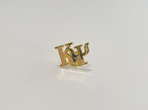 Kappa Psi Gold Letters Pin