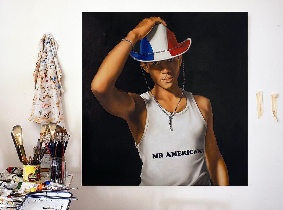 Tara Lewis Mr Americana studio wall inst