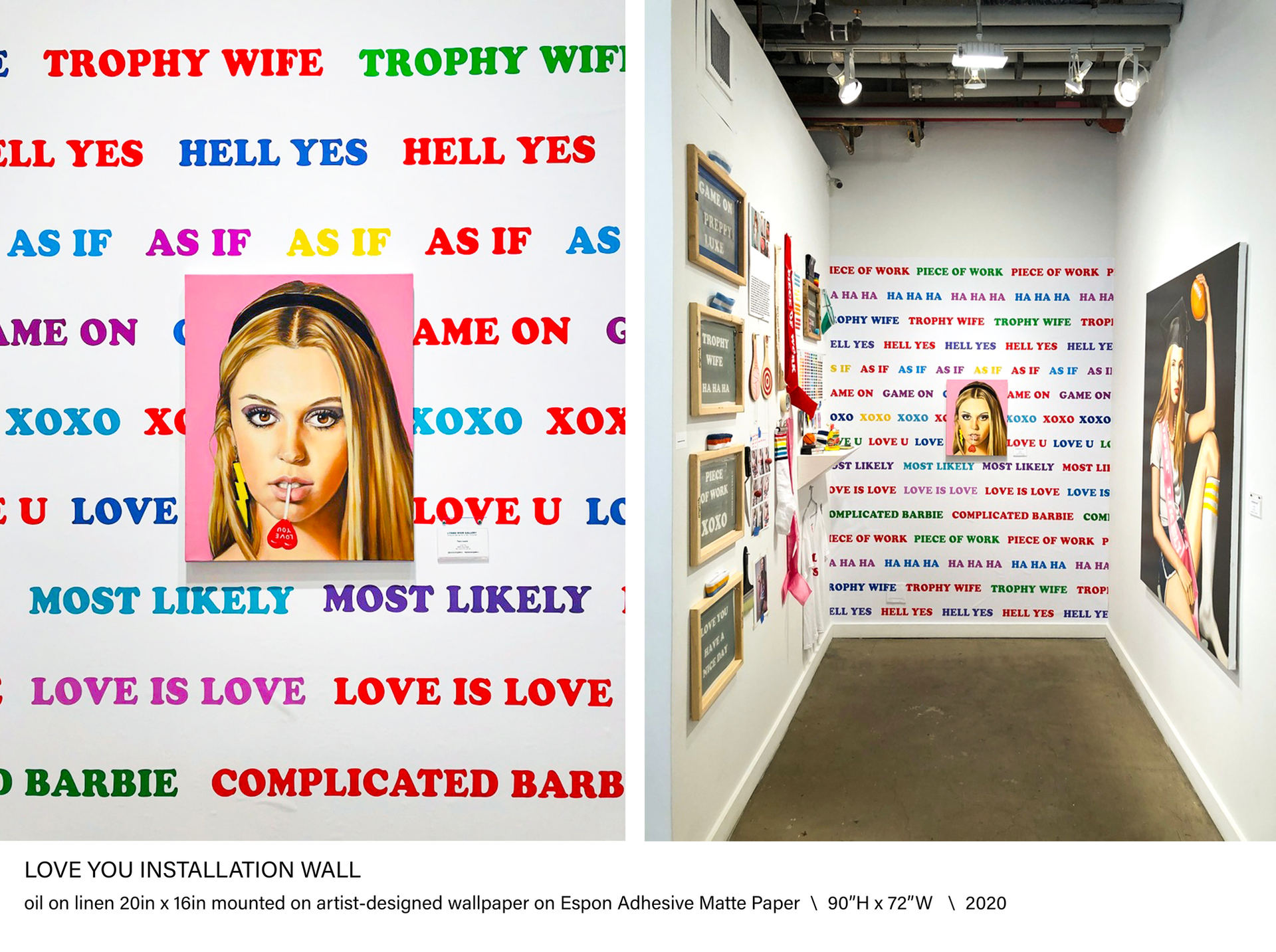 LOVE YOU Installation Wall