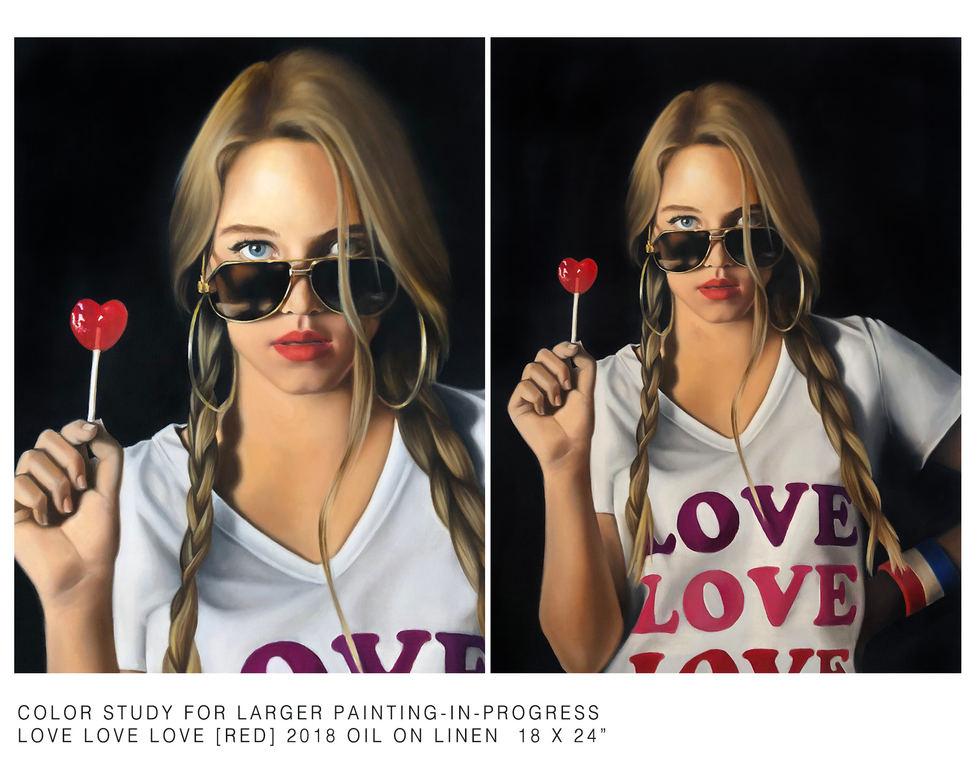 LOVE LOVE LOVE [RED] STUDY