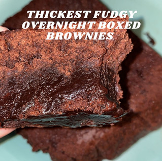 Thickest Fudgy Overnight Baked Boxed Brownies