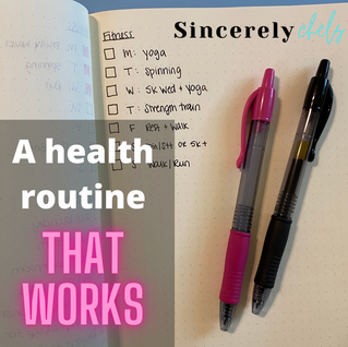 A Health Routine that Works