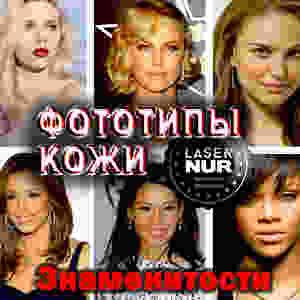 Определить фототип кожи по Фитцпатрику на примере знаменитостей. Лазерная эпиляция