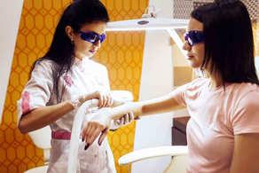 Эпиляция рук предплечий в салоне лазерной эпиляции Лазернур Lasernur Новый Уренгой