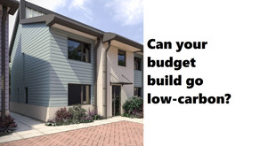 Carbon-neutral homes can be built on a reasonable budget