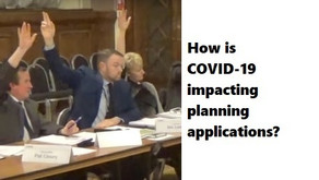 Coronavirus pandemic has changed the way planning applications are considered