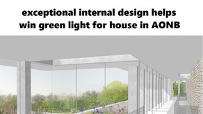 House gets planning consent thanks in part to its beautifully designed inside spaces