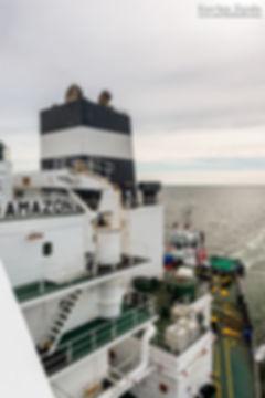 MSC Meraviglia & Le Havre vu depuis le pétrolier Amazon