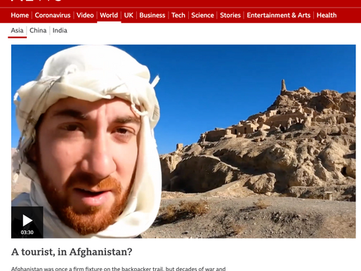 A tourist in Afghanistan