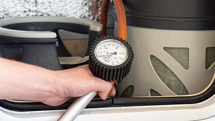 gass test bobil caravan, Heyerdahl Caravanservice