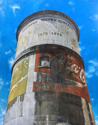 Water-District-Tower_Oil-on-canvas_2020_