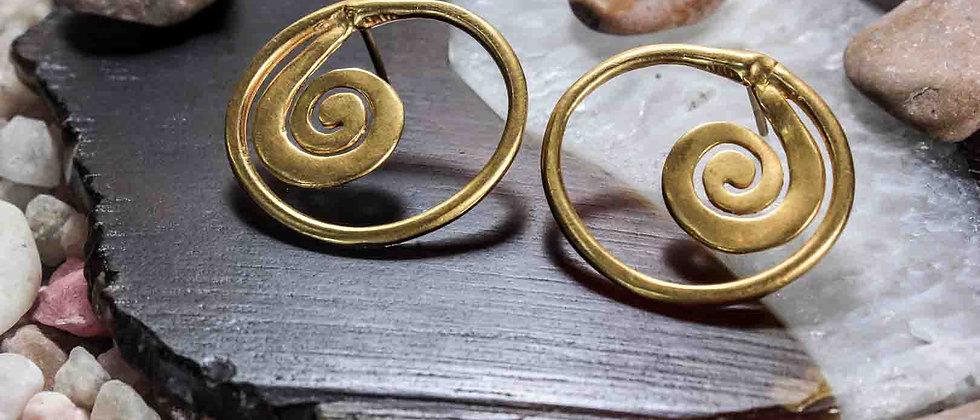 Aretes Circulares Con Espiral