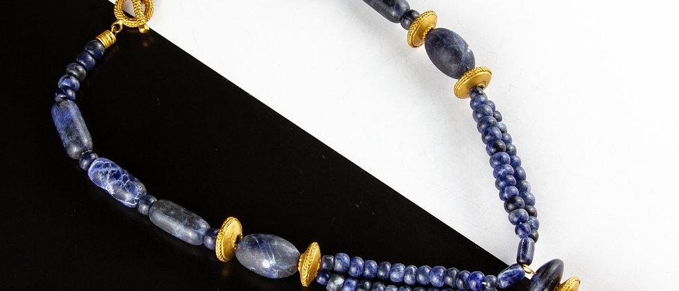 Collar Azul Dorado
