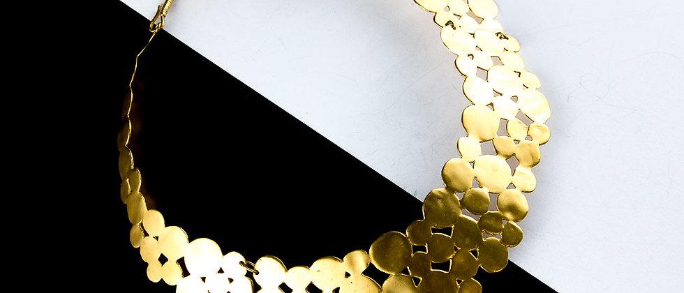 Collar choquer dorado solido
