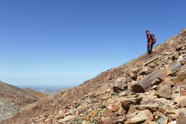 Camino a la cima de la Pica d'Estats