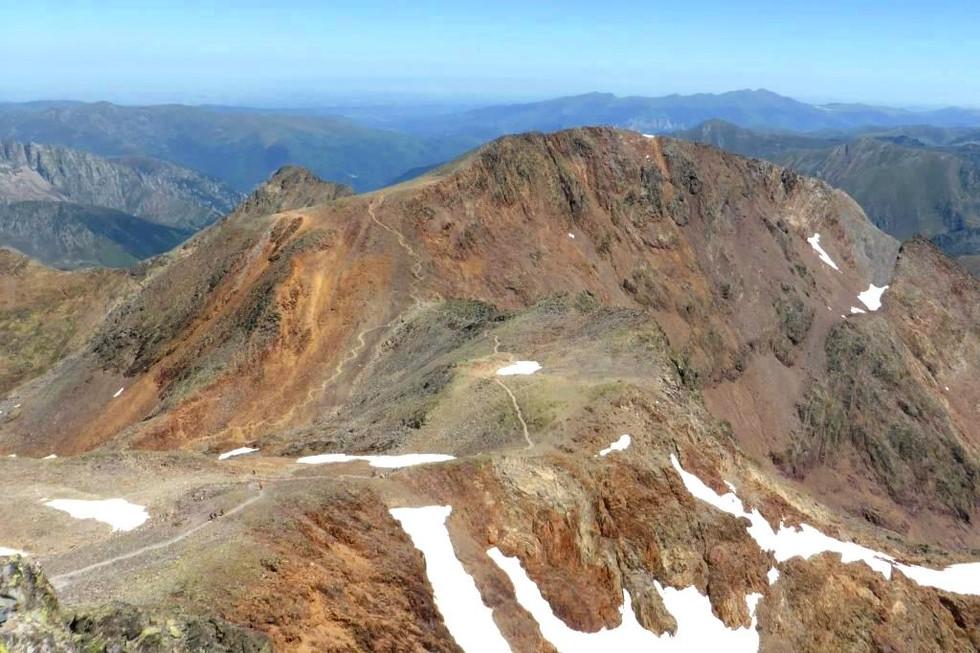 El Montcalm des del cim de la Pica d'Estats