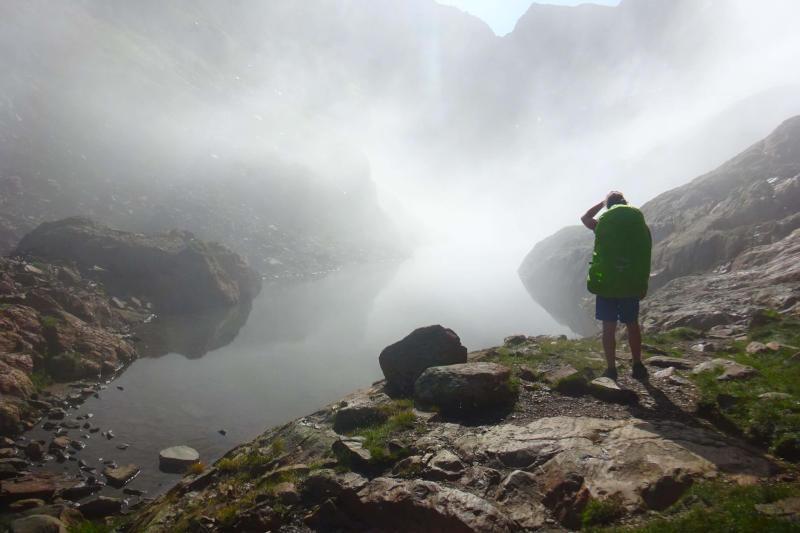 Excursionista a la Pica d'Estats