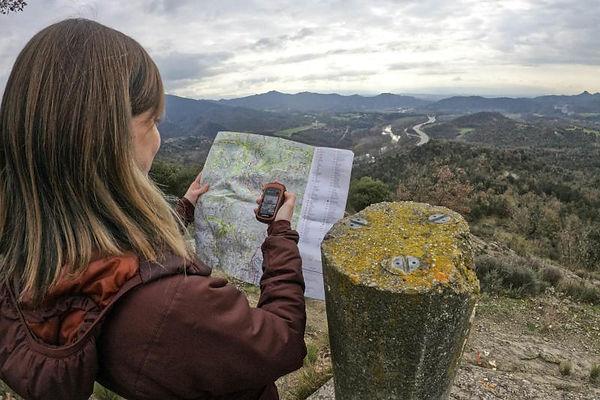 Taller d'orientació amb GPS a Montesquiu