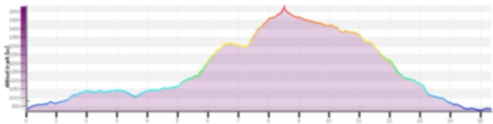 Perfil altitudinal ruta