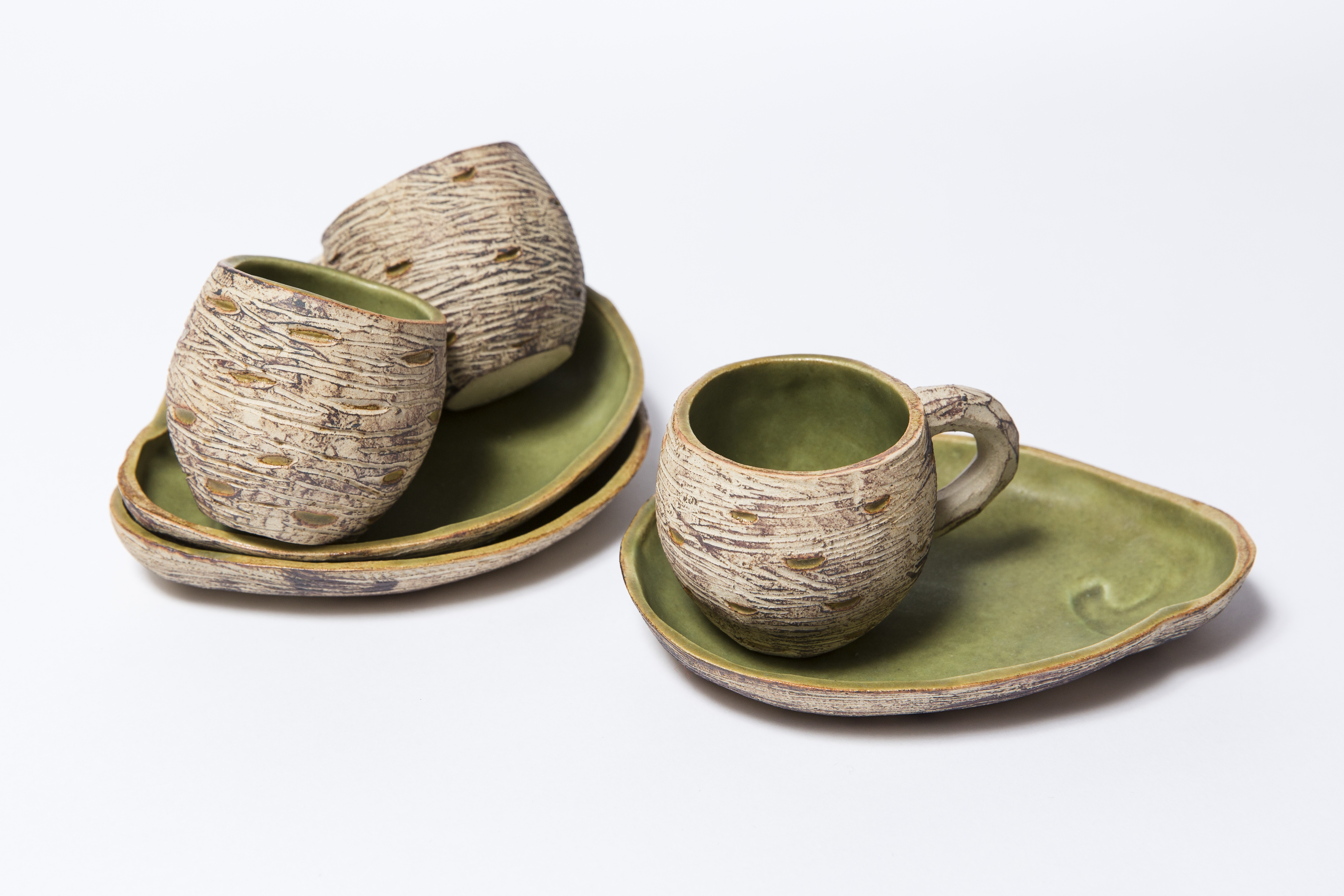 Bev Seth 1 Woodland cups and saucers