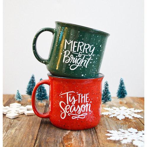 Holiday Ceramic Camp Mugs