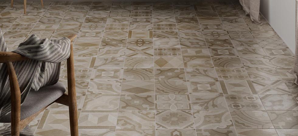 Patchwork Patterned Tiles