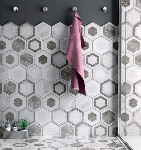 Marble Decorative Hex Tiles