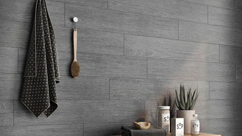 Marble and Wood Bathroom Tiles