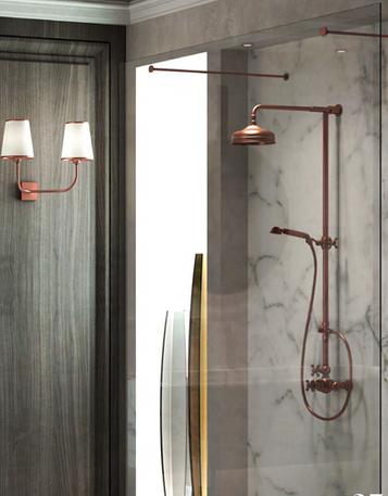 Arcana Antique Copper Shower Set