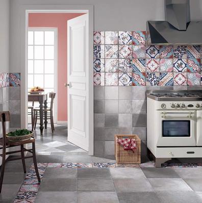 Patchwork Patterned Tile