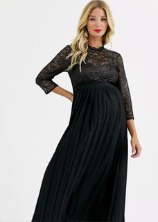 Zwarte jurk met kant - kleine maat 40