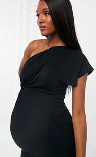 Kleed zwart blote schouder maat 40