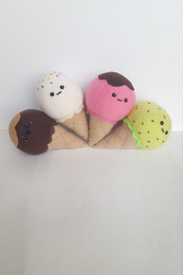 Kawaii Ice Cream Cone Plush