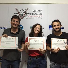 Premiação 5ª Semana da Engenharia Metalúrgica e de Materiais da UFRJ