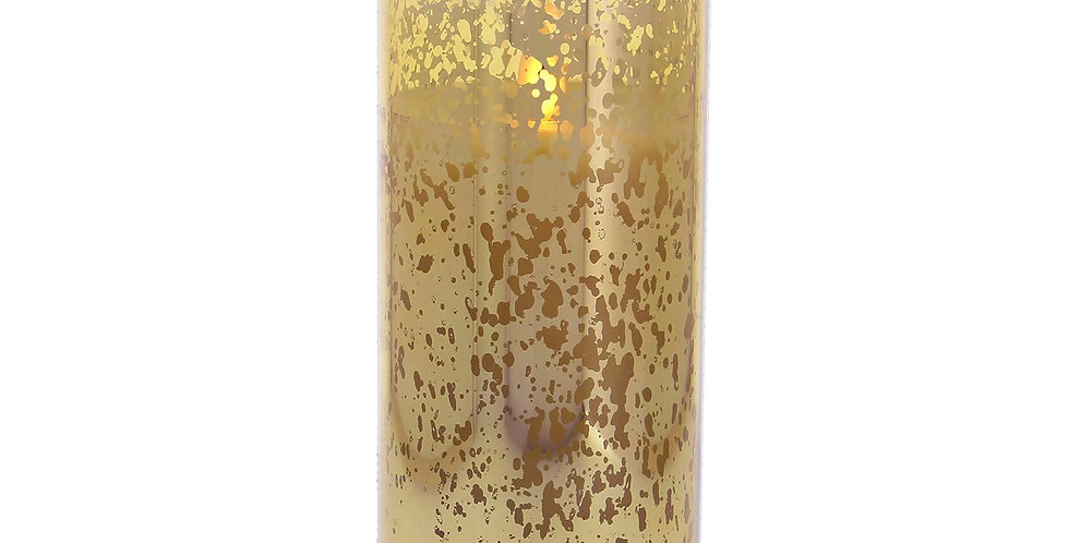 8cm x 18cm Mercury Glass Gold