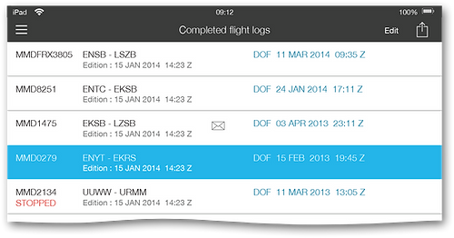 TAILLOG: Completed flight logs
