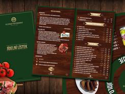 Plzeňský restaurant - Jídelní lístek