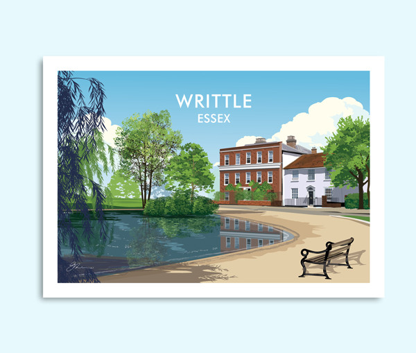 Writtle Essex travel print