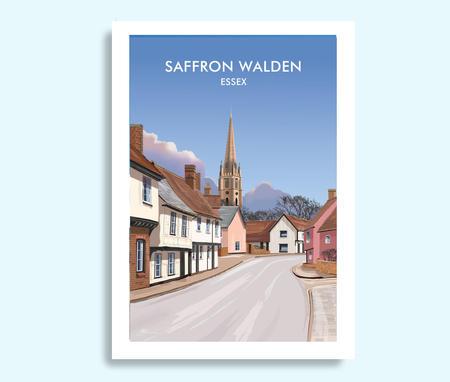 Saffron Walden travel print