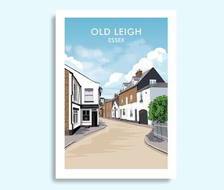 Old Leigh Essex travel print