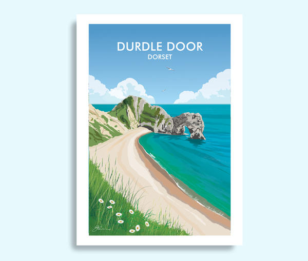Durdle Door Dorset travel print