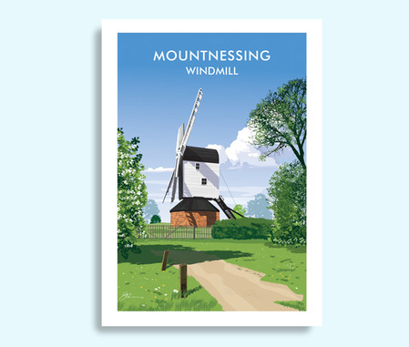 Mountnessing Essex travel print