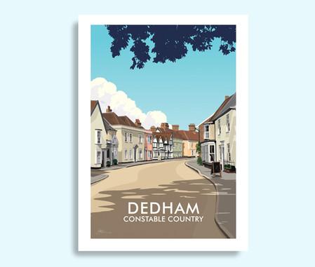 Dedham Essex travel print