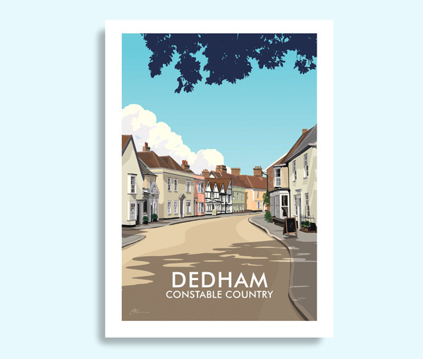 Dedham Essex travel print