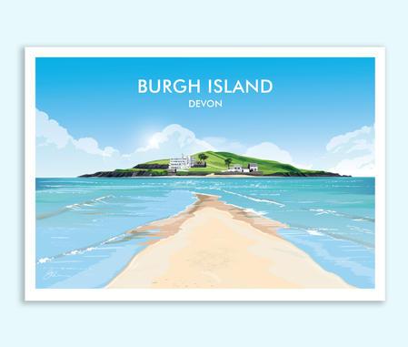 Burgh Island, Devon travel print/poster.jpg