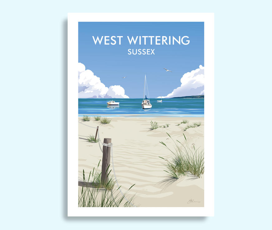 West Wittering travel print