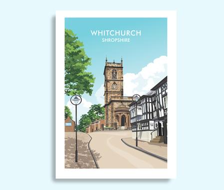 Whitchurch Shropshire travel print