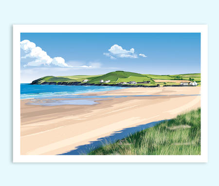 Croyd North Devon travel print/poster.jpg