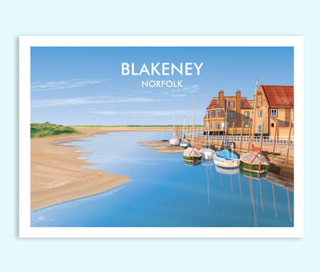 Blakeney Quay travel print
