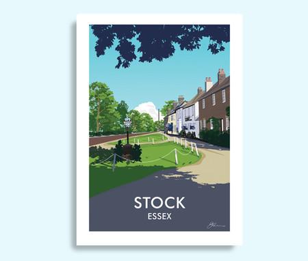 Stock Essex travel print